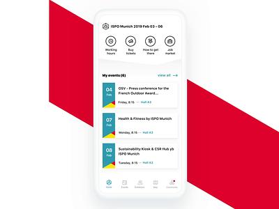 Messe Connect - whitelabel app ux ui mobile app mobile interaction design colors app animation