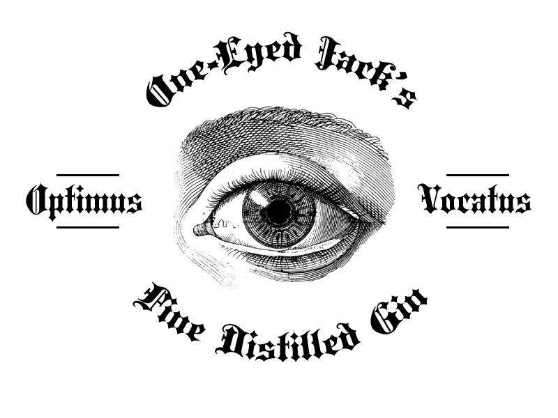 One Eyed Jacks eye classic lettering logo gin