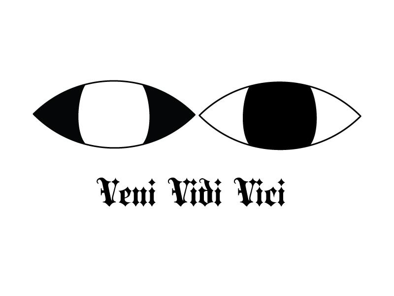 Keep one eye open... california los angeles blackletter nevada reno typography brandmark logo eye