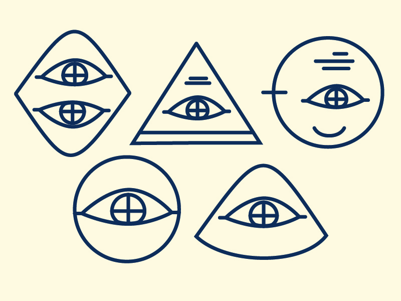 Cyclops california los angeles nevada reno pyramid cyclops eye illustrator vector linework illustraition