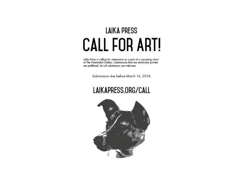 Call for Art! design usa california los angeles nevada reno typography head dog printing branding print
