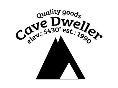 Cave Dweller mountain cave colorado boulder camping california los angeles nevada reno typography illustraition brandin