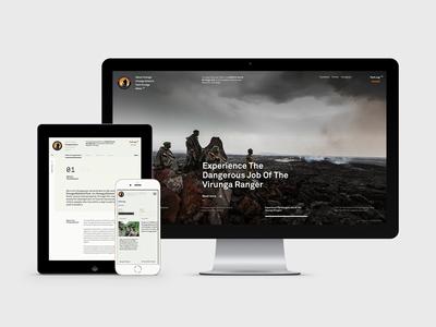 Virunga National Park hello monday ux ui design website virunga