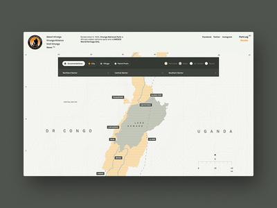 Virunga National Park hello monday website ui map virunga