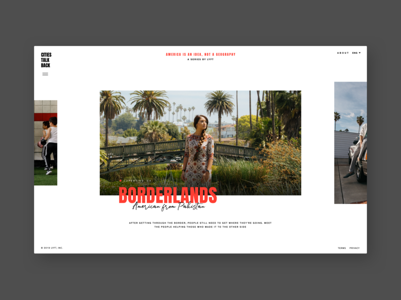 America Is An Idea, Not A Geography design hello monday ui website simple