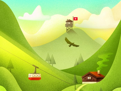 My First Time Travel To Switzerland illustration