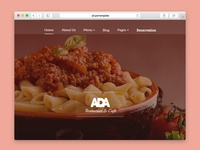 Ada Restaurant and Cafe Psd Template