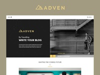 ADVEN - Blog PSD Template