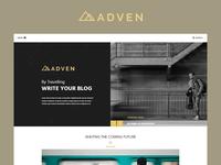 ADVEN - Blog PSD Template