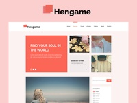 Hengame Blog Psd Template