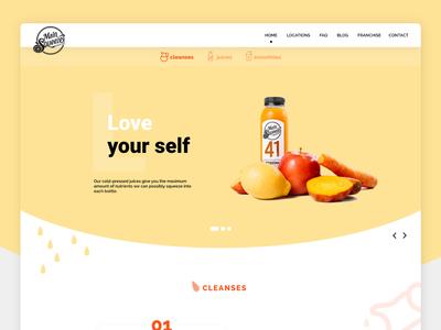 Juice Company Web Design