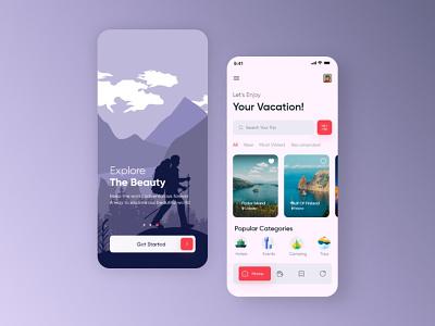 Travel App Ui Design booking app tour trip ui illustration android app ios app uidesign app design travelagency vacation ios minimal app ui tourism travel