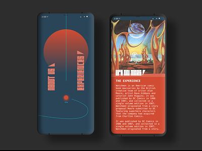 70's Space Pumpkin sci-fi interaction design typography app ui