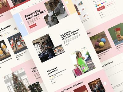 Online Gift Shop artist gift banner homepage website marketplace ecommerce