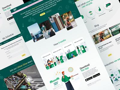 Recycling Website wastemanagement nature uiux uxdesign uidesign webdesign recycle website ux ui