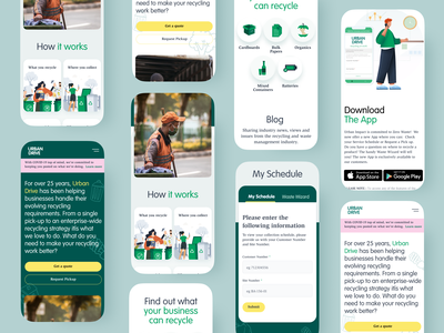 Recycling App wastemanagement nature recycle mobileappdesign mobileapp webdesign design app mobile ux ui