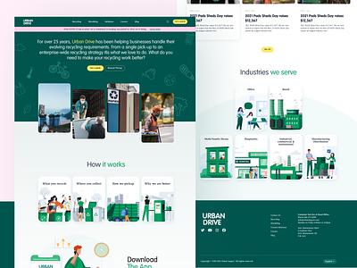 Recycle website recyclewebsite nature website wastemanagement recycle design webdesign ux ui