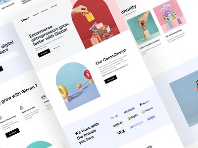 Fintech brand website ecommerce finance design webdesign website ux