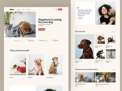 Ecommerce Website animalwebsite store shop ecommerce animal webdesign design website ux ui