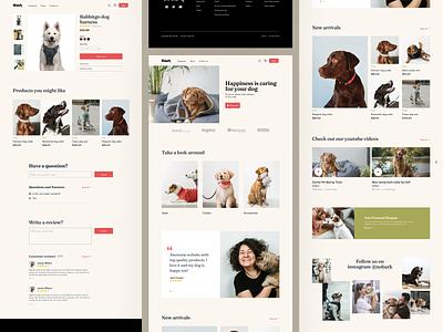 Ecommerce wesite dogs website webdesign store ecommerce animals design ux ui