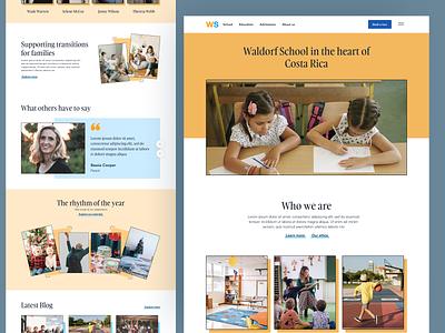 School Website schoolwebsite education school website webdesign design ux ui
