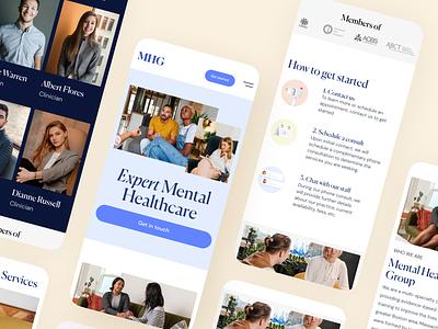 Medical website Mobile version psychology healthcare health medical mobile website design webdesign ux ui