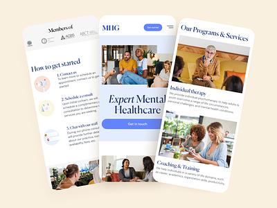 Medical website Mobile version psychology website healthcare health medical mobile webdesign design layout ux ui