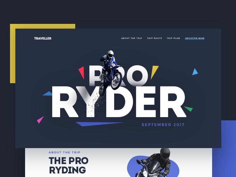 Landing page pro rider thumbnail