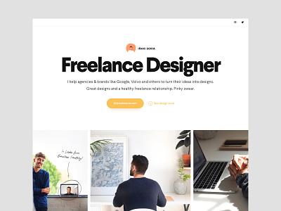 Iñaki Soria - Portfolio one page avatar designer freelance portfolio web white typography clean design ux ui