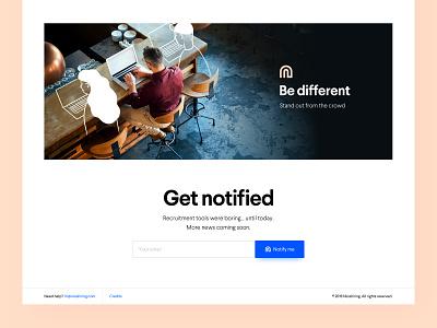 Nicehiring email illustration white web typography clean ux design ui