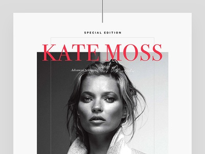 Kate Moss cover cover editorial fashion typography lookbook design