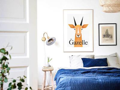 Gazelle animal gazelle poster vector illustration