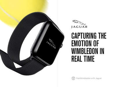 Feel Wimbledon with Jaguar portfolio case study watch apple tennis wimbledon jaguar