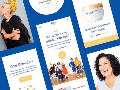 Dove campaign dove white clean app mobile ux ui