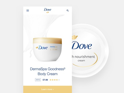 Dove - Product dove product white clean design app ux ui