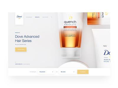 Dove search clean white products dove design web ux ui