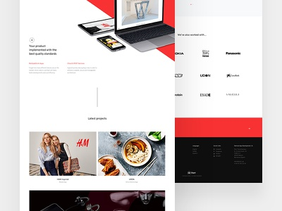 Start - Home white agency case study design web ux ui