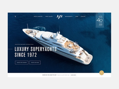 Luxury Superyachts yachts landing home design web ux ui