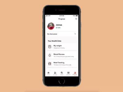 Provider Data Sharing share ios app design ui graphs data health app diabetes blood glucose health healthcare data sharing