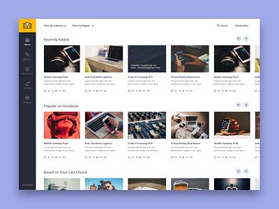 Demos Portal Dashboard sap app profile interface design demo portal user ux ui dashboard