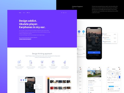 V2.0 Portfolio Redesign responsive work mobile flat web ui redesign landing page website portfolio minimal designer