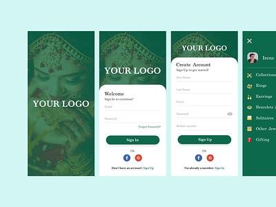 Jewellery App branding ui artificial intelligence illustration app design