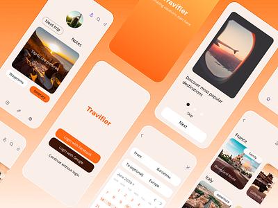 14 Daily UI. Travelling app new trend inspiration iphone gradient travel branding logo illustration neumorphic ui button minimalism design app ux