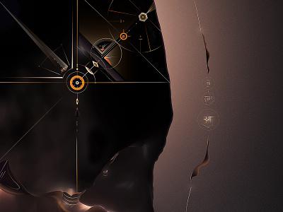 Chasm abstract tilaka digital