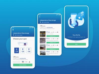 PropriPark app ui