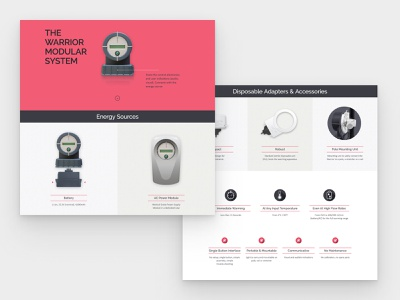 The Warrior Modular System website webdesign design