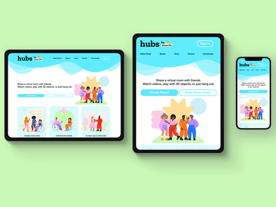 Responsive Mockup figma web design home page landing page