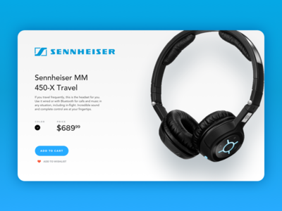 Product Page layout card ecommerce headphone ux ui product