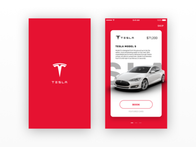 Tesla iOS - Concept updated new red ux ui app iphone ios tesla