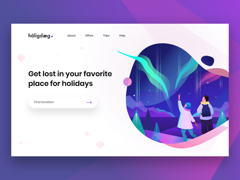 Holiday Website web icon logo branding vector typography illustration free mobile invite invitation blue interface design phone dribbble card experience ios ux